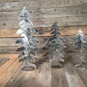 Brushed Steel Ornaments