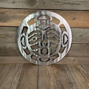 Brushed Steel First Nations Moon