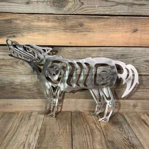 First Nations Brushed Steel Wolf