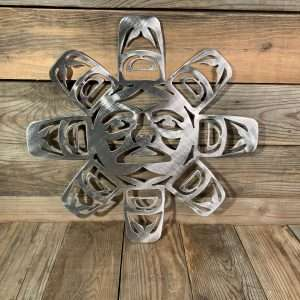 First Nations Brushed Steel Sun