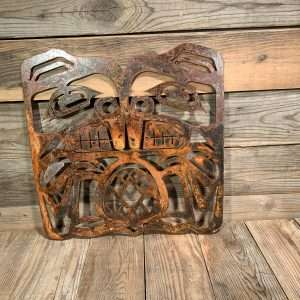First Nations Rusted Metal Beaver