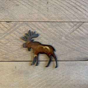 Hand Painted Moose Magnet