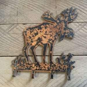 Rusted Metal Moose Wall Hook